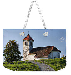 Evening Glow Over Church Weekender Tote Bag