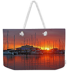 Weekender Tote Bag featuring the photograph Evening Light by HH Photography of Florida