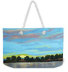 Evening On Ema River Weekender Tote Bag
