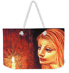 Weekender Tote Bag featuring the painting Evening Prayer by Jane Small