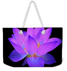 Evening Purple Lotus  Weekender Tote Bag by David Dehner