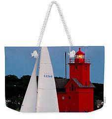Evening Sail At Holland Light Weekender Tote Bag