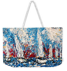Evening Sailing Weekender Tote Bag
