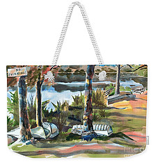 Evening Shadows At Shepherd Mountain Lake  No W101 Weekender Tote Bag