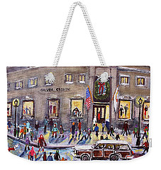 Evening Shopping At Grover Cronin Weekender Tote Bag by Rita Brown