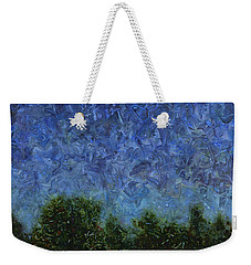 Weekender Tote Bag featuring the painting Evening Star - Square by James W Johnson
