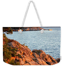 Evening Sun By The Waterfront Weekender Tote Bag