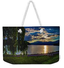 Evening Sun Kisses Lake One Last Time Weekender Tote Bag