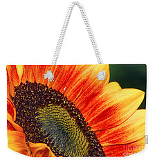 Evening Sun Sunflower Weekender Tote Bag