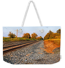 Evening Tracks Weekender Tote Bag