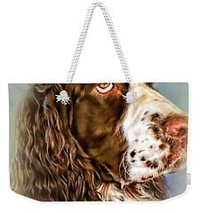 Ever Watchful English Springer Spaniel Weekender Tote Bag