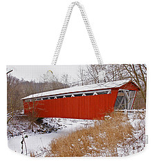 Everett Rd. Covered Bridge In Winter Weekender Tote Bag