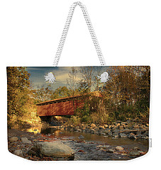 Everett Rd Summit County Ohio Covered Bridge Fall Weekender Tote Bag