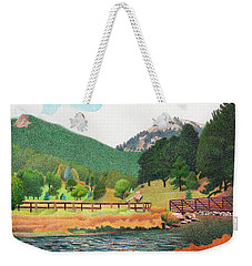 Evergreen Lake Spring Weekender Tote Bag