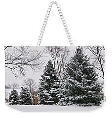 Evergreens In The Snow Weekender Tote Bag