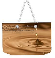 Every Drop Weekender Tote Bag