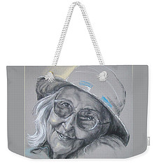 Weekender Tote Bag featuring the drawing Everybodys Grandma by Peter Suhocke