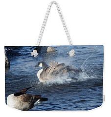 Everyone Duck Weekender Tote Bag by Bobbee Rickard