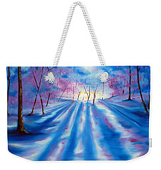 Weekender Tote Bag featuring the painting Evident by Meaghan Troup