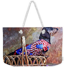 Weekender Tote Bag featuring the photograph Evita by Jim Thompson
