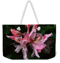 Weekender Tote Bag featuring the photograph Exbury Azalea by Louise Kumpf