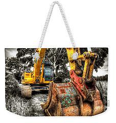 Excavator Weekender Tote Bag