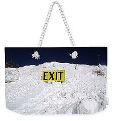 Exit Weekender Tote Bag by Fiona Kennard