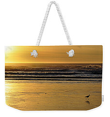 Weekender Tote Bag featuring the photograph Exit Stage Right by AJ  Schibig