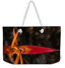 Weekender Tote Bag featuring the photograph Exotic Heliconia by Steven Sparks