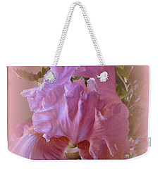 Weekender Tote Bag featuring the photograph Exotic Iris by Kay Novy
