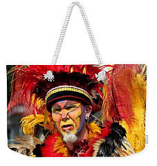 Exotic Painted Face Weekender Tote Bag