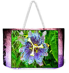 Weekender Tote Bag featuring the photograph Exotic Strange Flower by Absinthe Art By Michelle LeAnn Scott