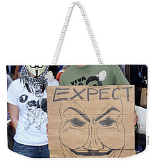 Weekender Tote Bag featuring the photograph Expect Revolution by Ed Weidman