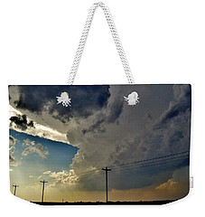 Explosive Texas Supercell Weekender Tote Bag by Ed Sweeney
