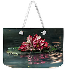 Weekender Tote Bag featuring the photograph Exquisite Water Flower  by Lucinda Walter