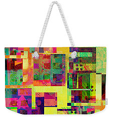 Extreme Color  Abstract Art  Weekender Tote Bag by Ann Powell