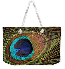 Eye Of The Peacock Weekender Tote Bag by Judy Whitton