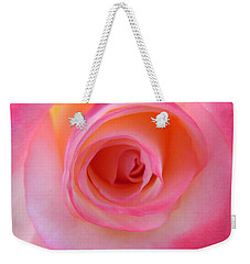 Weekender Tote Bag featuring the photograph Eye Of The Rose by Deb Halloran