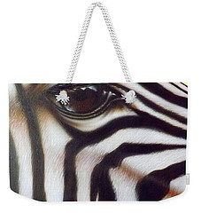 Eye Of The Zebra Weekender Tote Bag by Darren Robinson