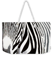 Eye Of The Zebra Weekender Tote Bag by Mike Robles