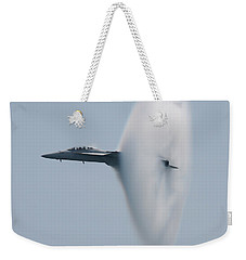 Weekender Tote Bag featuring the photograph Fa 18 Super Hornet Vapor Circle 2 by Donna Corless