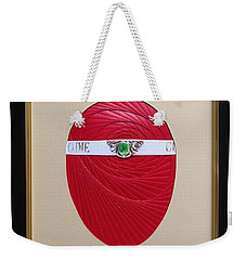 Weekender Tote Bag featuring the mixed media Faberge Egg 1 by Ron Davidson