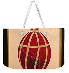 Weekender Tote Bag featuring the mixed media Faberge Egg 2 by Ron Davidson