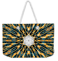 Weekender Tote Bag featuring the drawing Fabric Of The Universe by Derek Gedney