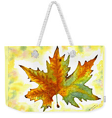 Weekender Tote Bag featuring the painting Fabulous Autumn by Leanne Seymour