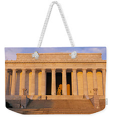 Facade Of A Memorial Building, Lincoln Weekender Tote Bag by Panoramic Images