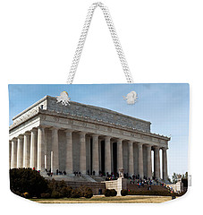 Facade Of The Lincoln Memorial, The Weekender Tote Bag by Panoramic Images
