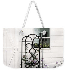 Weekender Tote Bag featuring the photograph Face In The Window by Brooke T Ryan