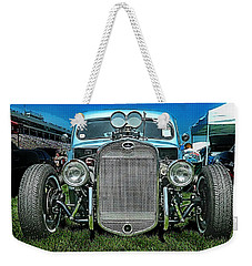 Face Of The Rat Rod Weekender Tote Bag by Victor Montgomery