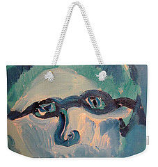 Face Three As Grandpa Snowman Weekender Tote Bag
